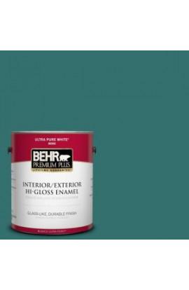 BEHR Premium Plus 1-gal. #500D-7 Caribbean Green Hi-Gloss Enamel Interior/Exterior Paint - 830001