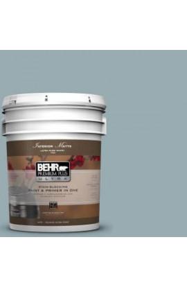 BEHR Premium Plus Ultra 5-gal. #BXC-28 Bucolic Blue Matte Interior Paint - 175405