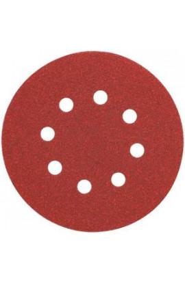DEWALT 5 in. 8 Hole 120-Grit H and L Random Orbit Sandpaper (25-Pack) - 4204475