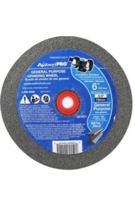 Avanti Pro 6 in. x 3/4 in. x 1 in. Bench Grinding Wheel - PBW060075A01F