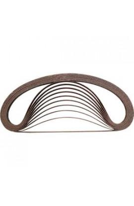 Makita 3/8 in. x 21 in. 80-Grit Abrasive Belt (10-Pack) - A-34469