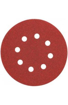 DEWALT 5 in. 8 Hole 220-Grit H and L Random Orbit Sandpaper (25-Pack) - DW4314