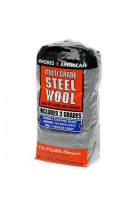 Homax Assorted 12 pad Steel Wool, Coarse, Medium, Fine - 10121114