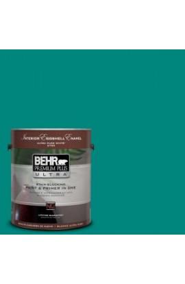 BEHR Premium Plus Ultra 1-gal. #P450-7 Mystic Turquoise Eggshell Enamel Interior Paint - 275301