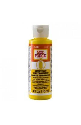 Mod Podge Sheer Colors 4 oz. Yellow Transparent Paint - CS15087