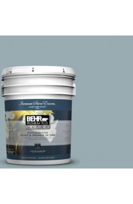 BEHR Premium Plus Ultra 5-gal. #BXC-28 Bucolic Blue Satin Enamel Interior Paint - 775405