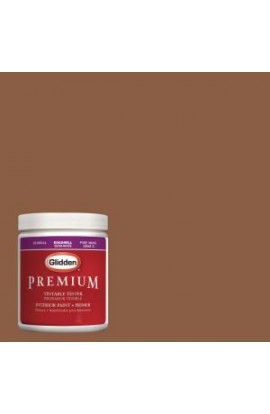 Glidden Premium 8 oz. #HDGO26 Fresh Baked Pumpernickel Latex Interior Paint Tester - HDGO26-08P